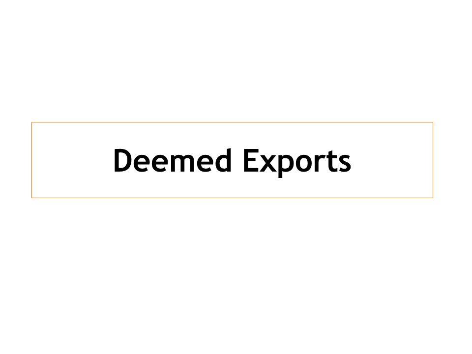 Deemed Exports