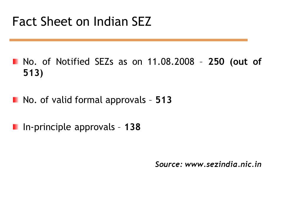 Fact Sheet on Indian SEZ