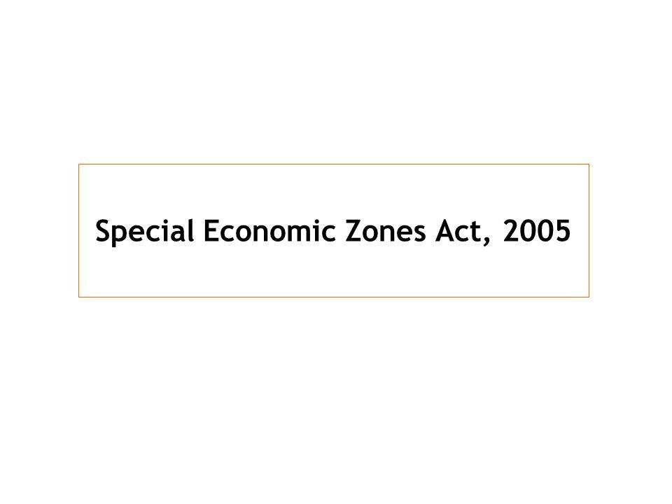 Special Economic Zones Act, 2005