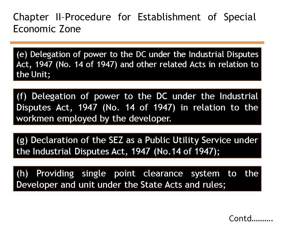 Chapter II–Procedure for Establishment of Special Economic Zone