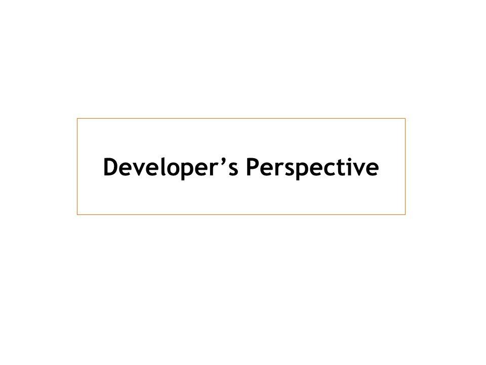 Developer's Perspective