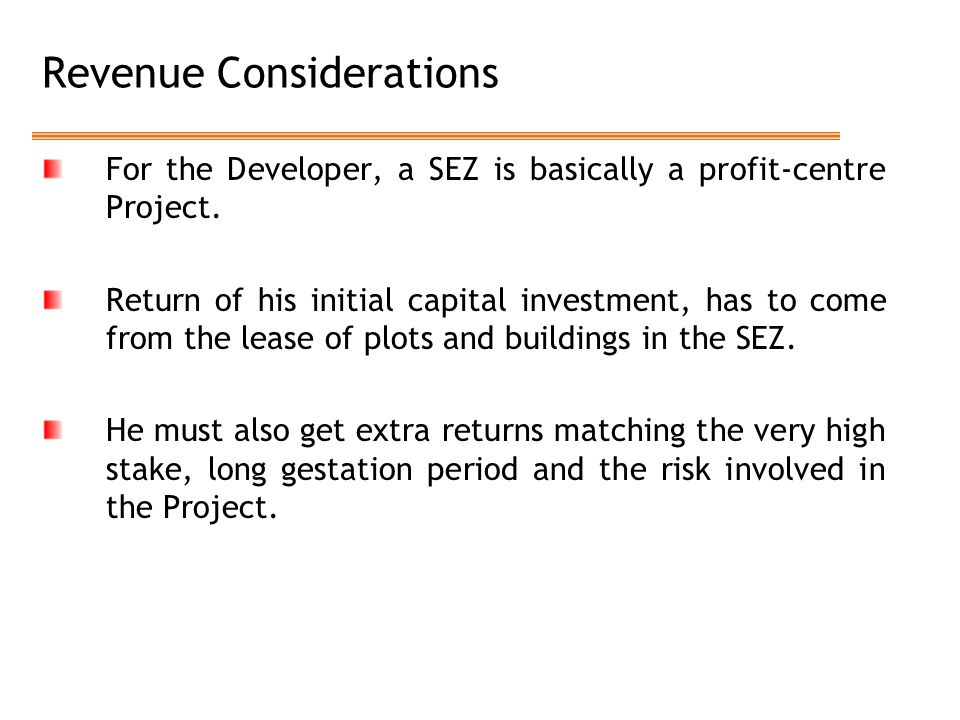 Revenue Considerations