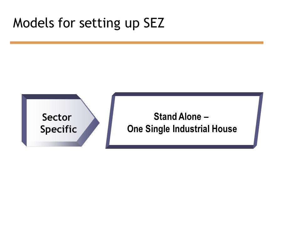 Models for setting up SEZ