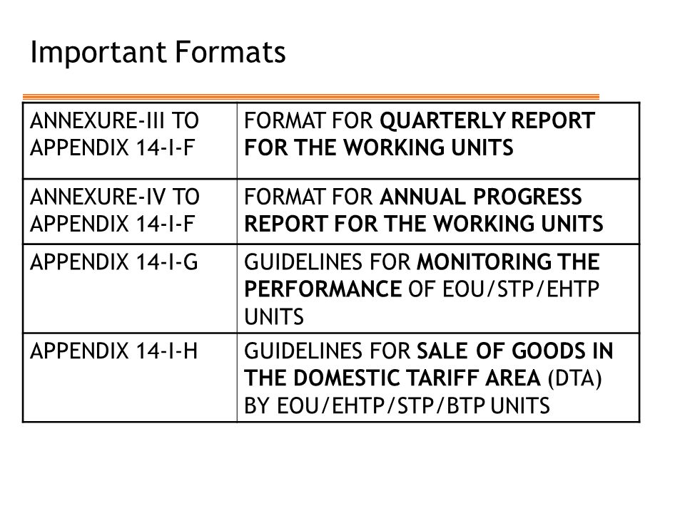 Important Formats ANNEXURE-III TO APPENDIX 14-I-F