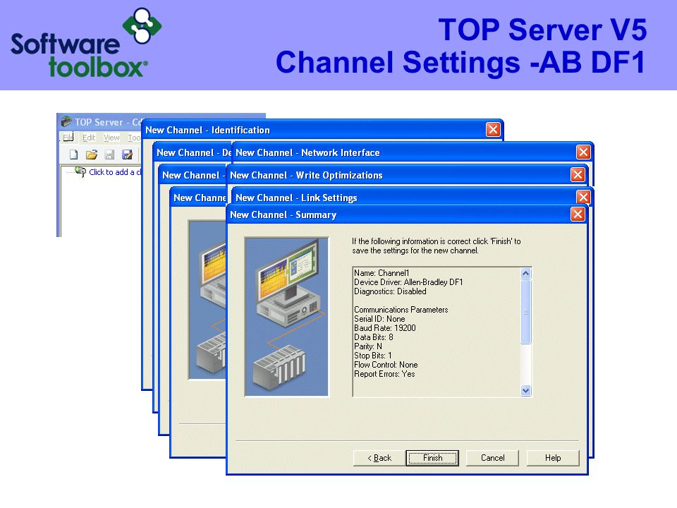 TOP Server V5 Channel Settings -AB DF1
