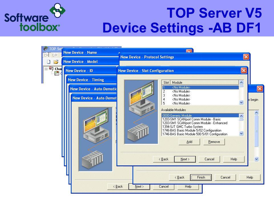 TOP Server V5 Device Settings -AB DF1