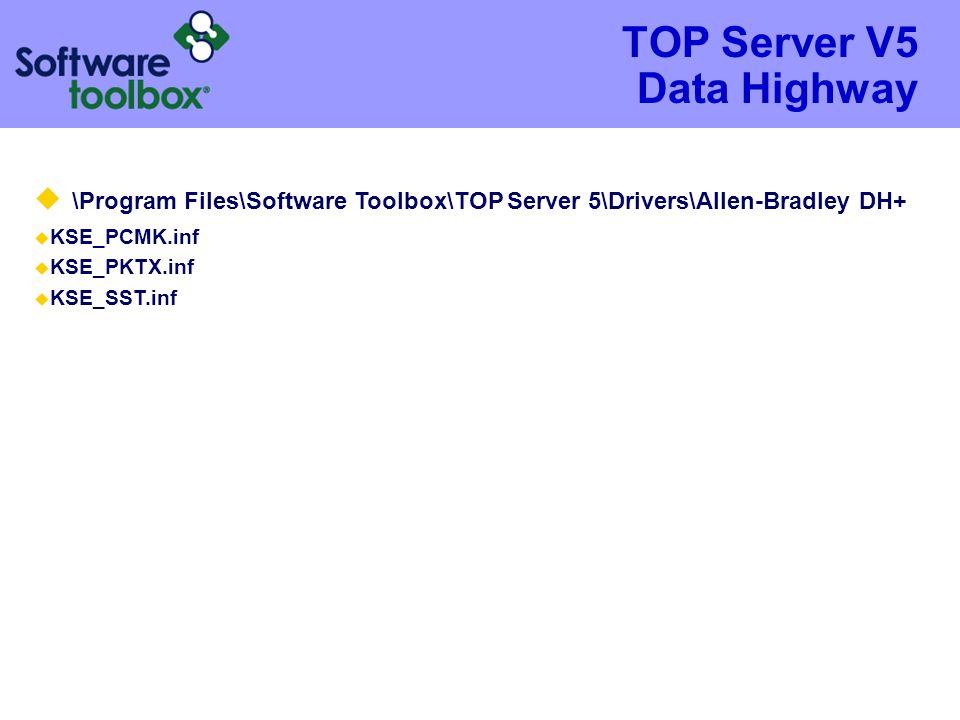 TOP Server V5 Data Highway