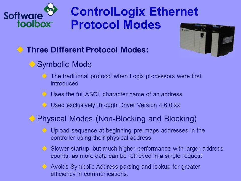 ControlLogix Ethernet Protocol Modes