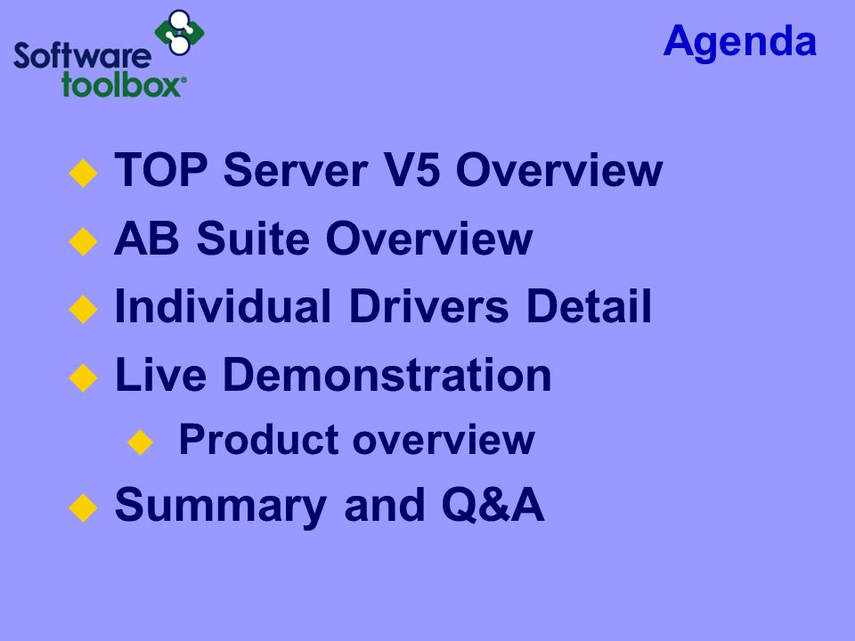 Individual Drivers Detail Live Demonstration Summary and Q&A