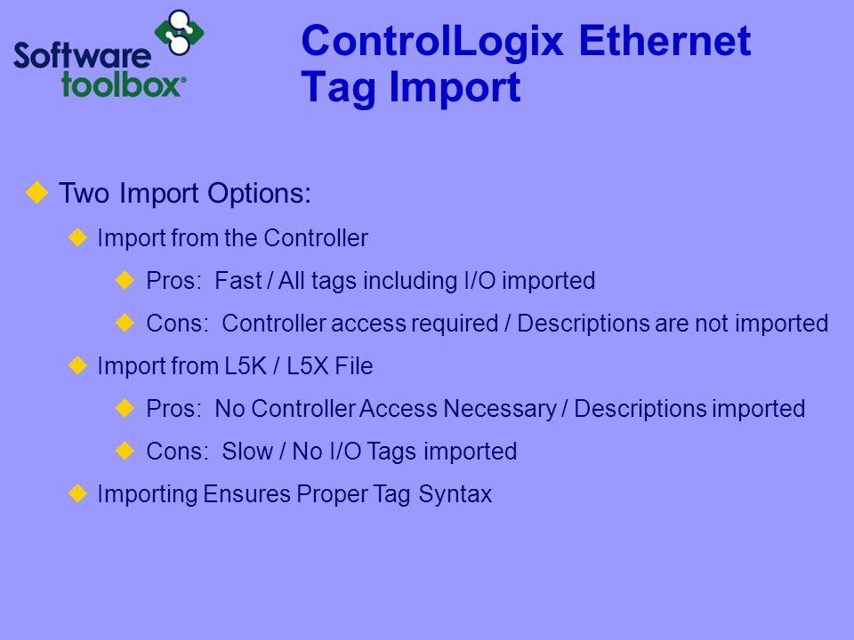 ControlLogix Ethernet Tag Import