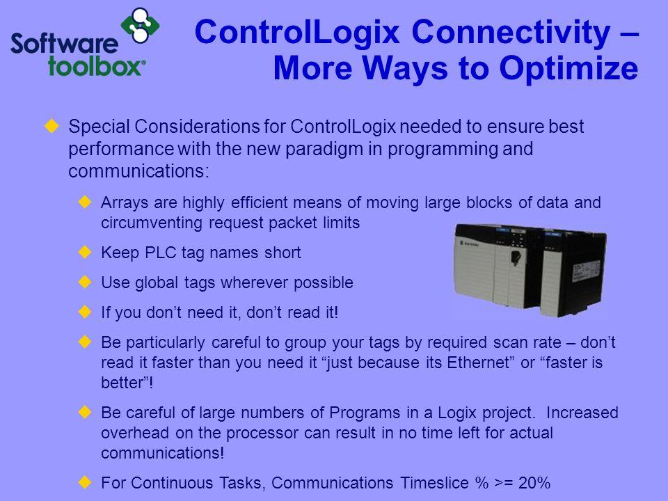 ControlLogix Connectivity – More Ways to Optimize