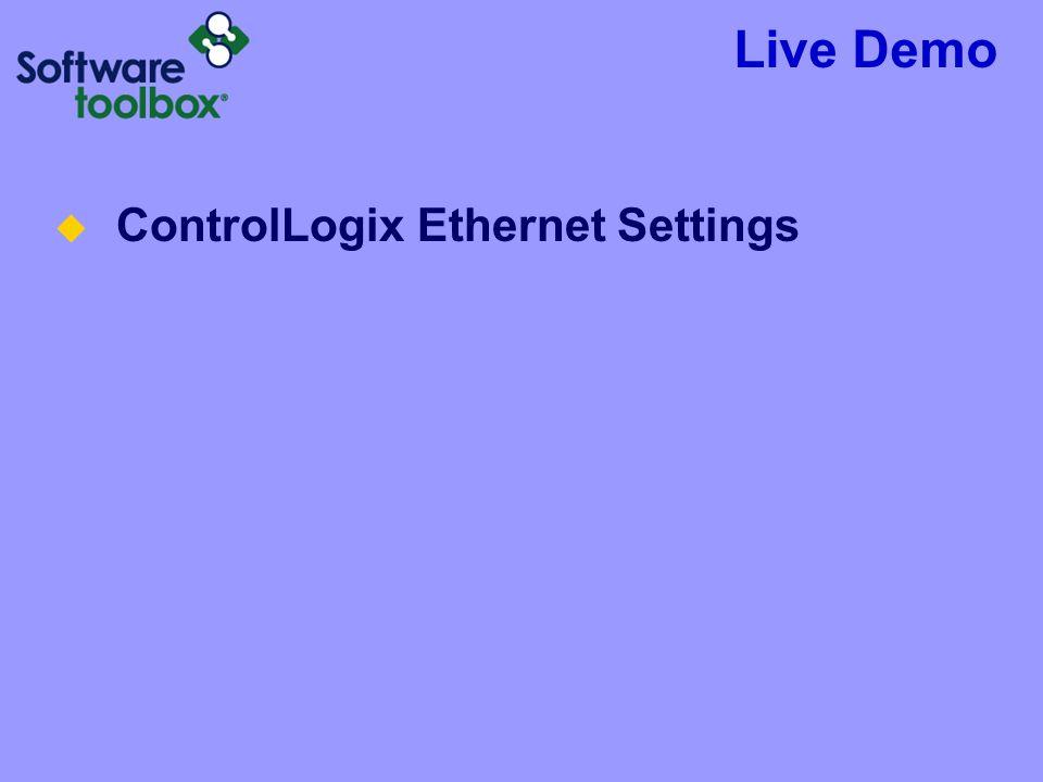 Live Demo ControlLogix Ethernet Settings