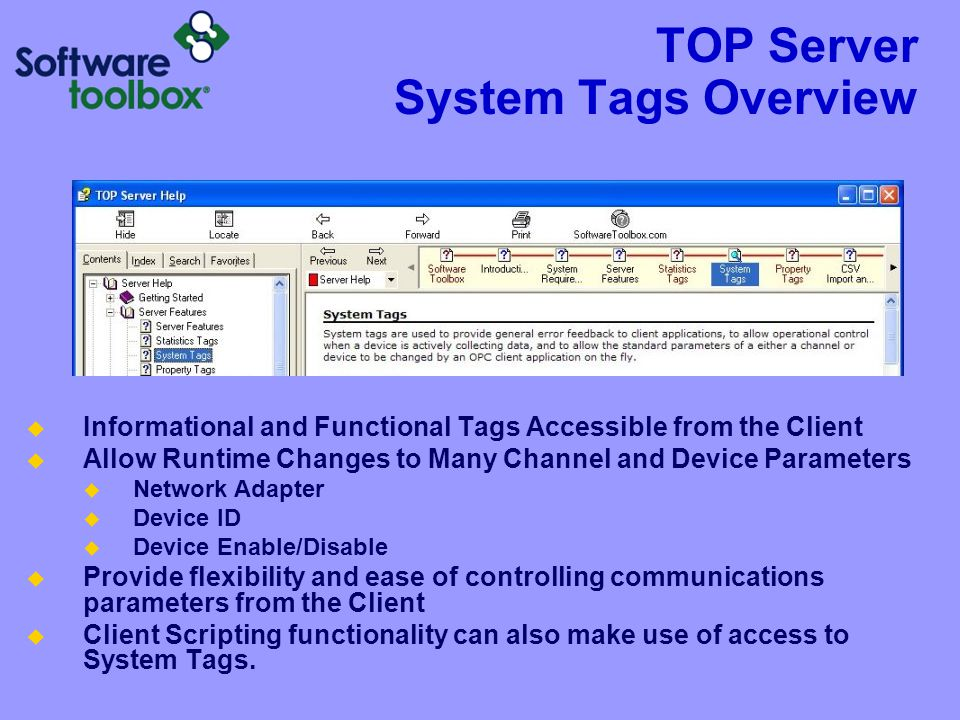 TOP Server System Tags Overview