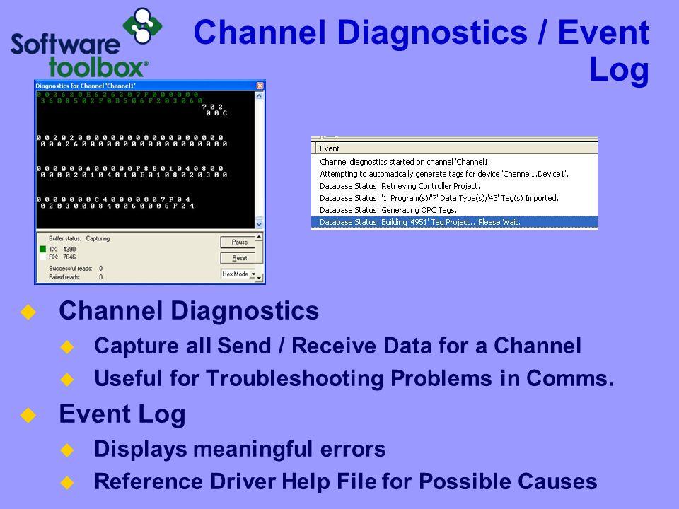Channel Diagnostics / Event Log