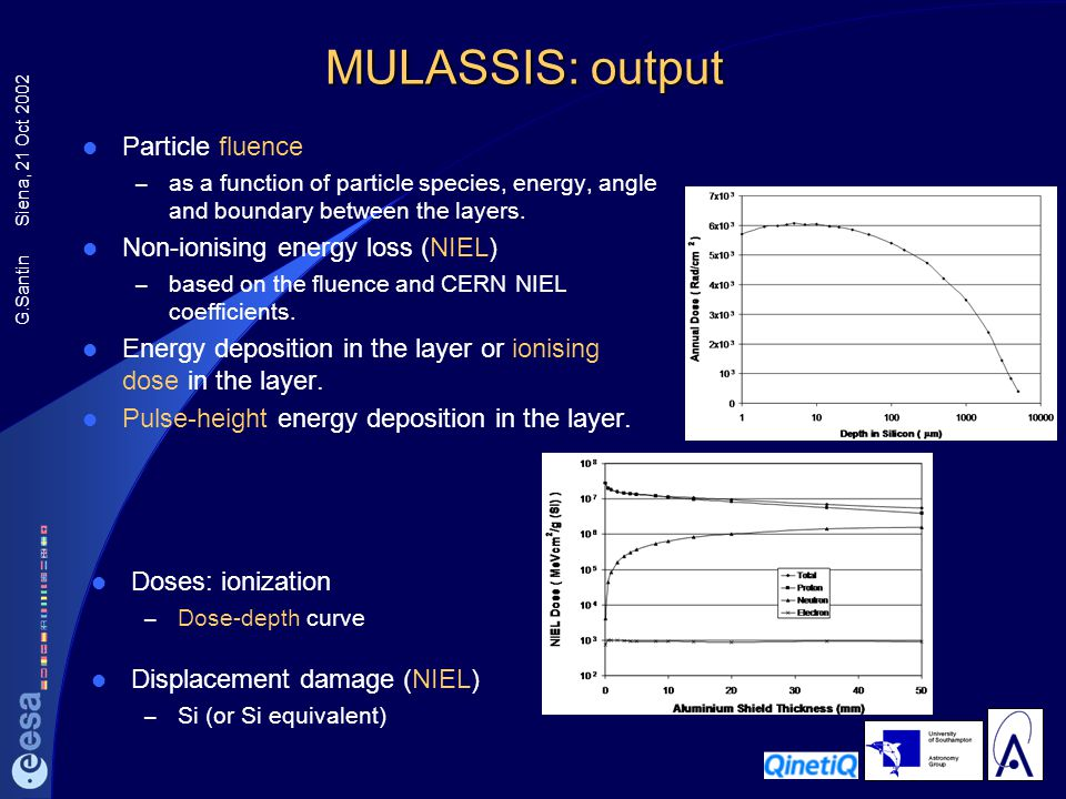 MULASSIS: output Particle fluence Non-ionising energy loss (NIEL)