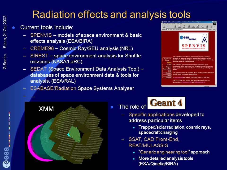 Radiation effects and analysis tools