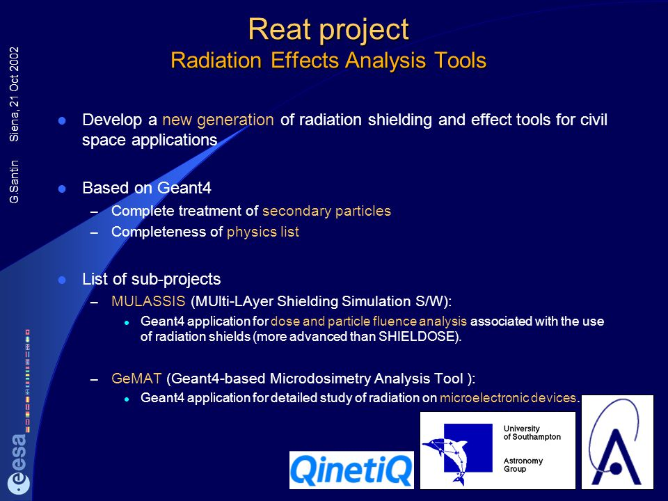 Reat project Radiation Effects Analysis Tools