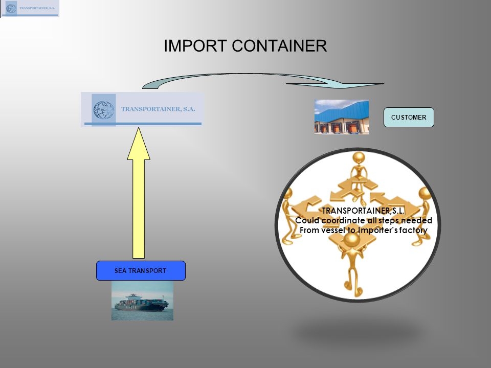 Could coordinate all steps needed From vessel to Importer's factory
