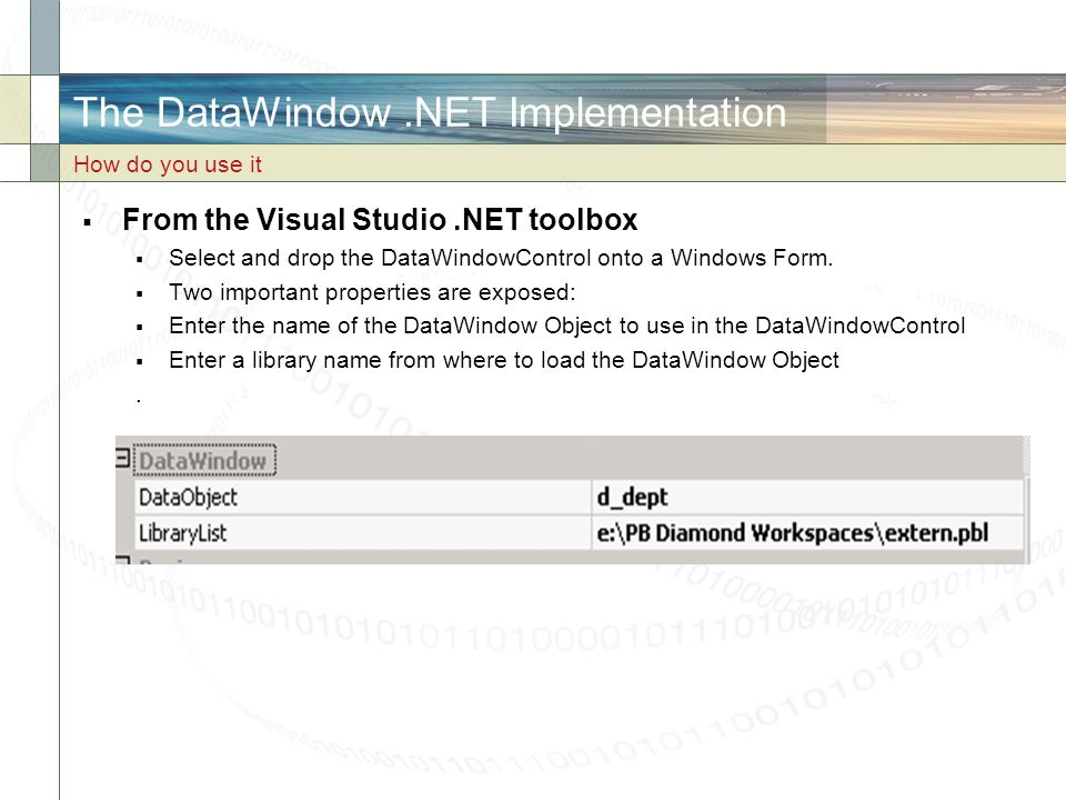 The DataWindow .NET Implementation