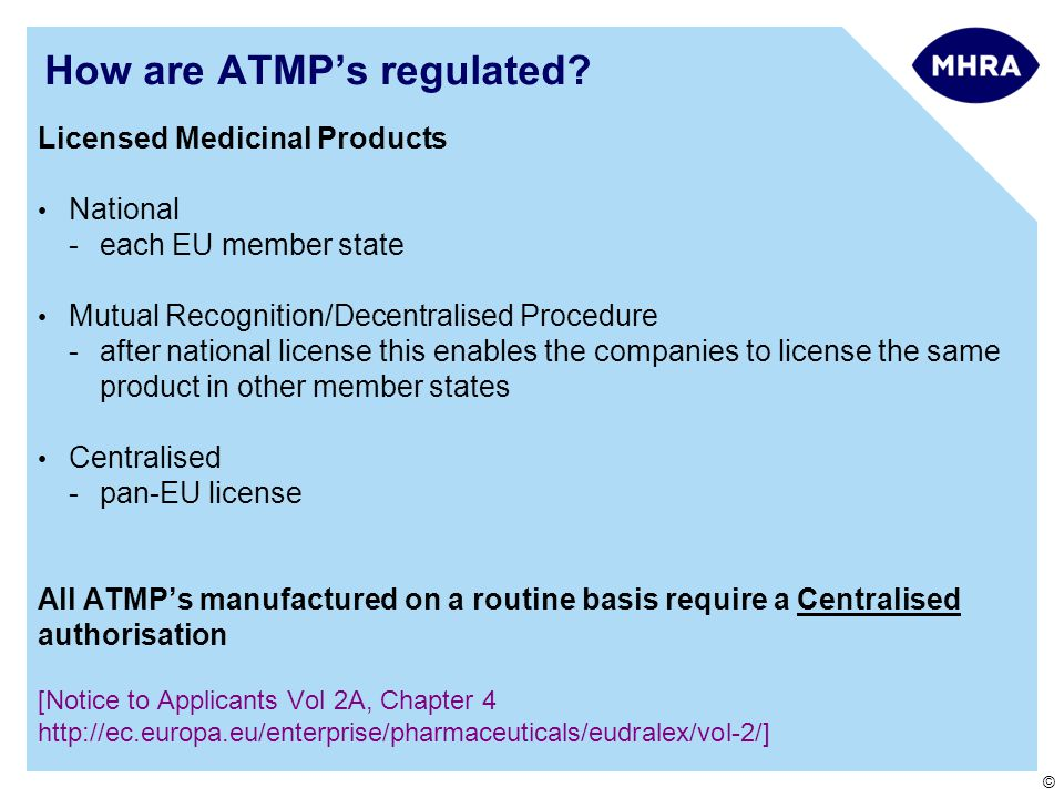 How are ATMP's regulated
