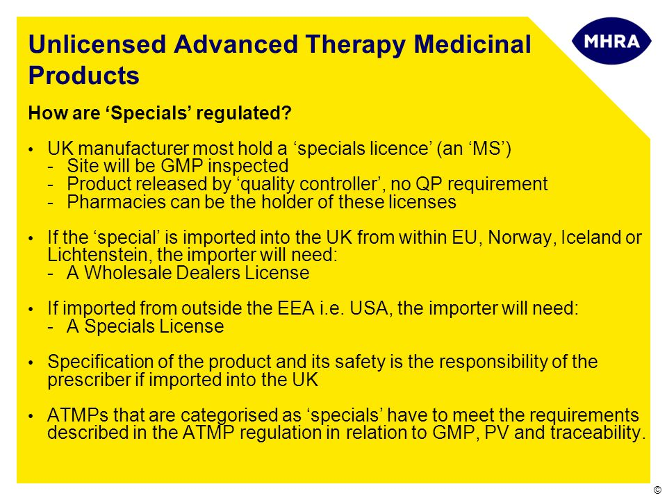 Unlicensed Advanced Therapy Medicinal Products