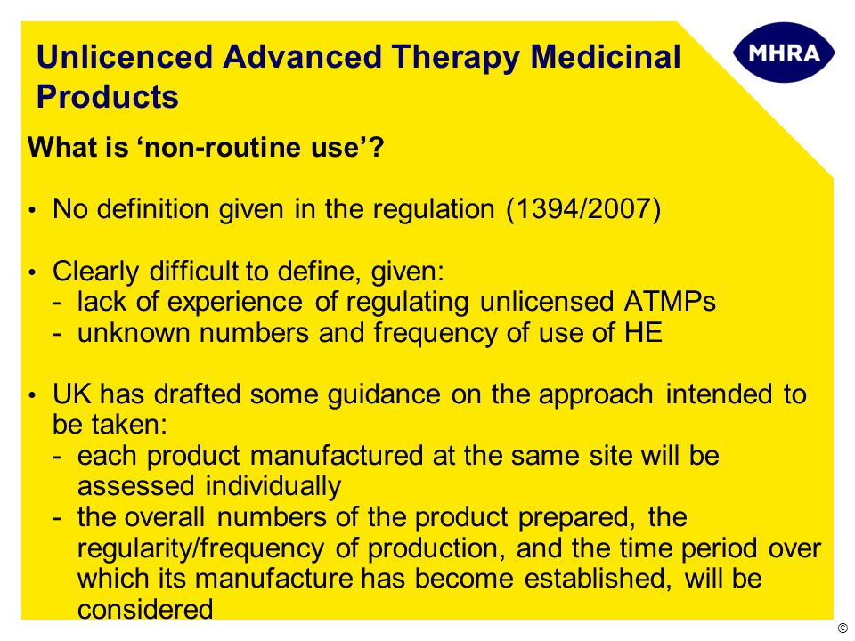 Unlicenced Advanced Therapy Medicinal Products