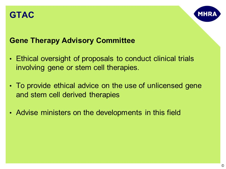 GTAC Gene Therapy Advisory Committee