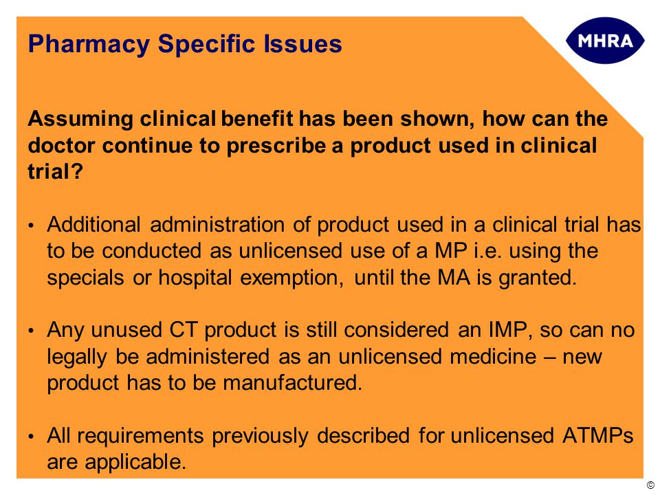 Pharmacy Specific Issues