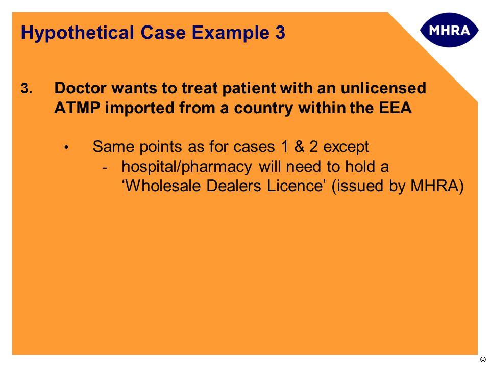 Hypothetical Case Example 3