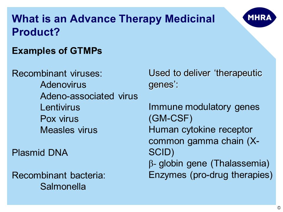 What is an Advance Therapy Medicinal Product