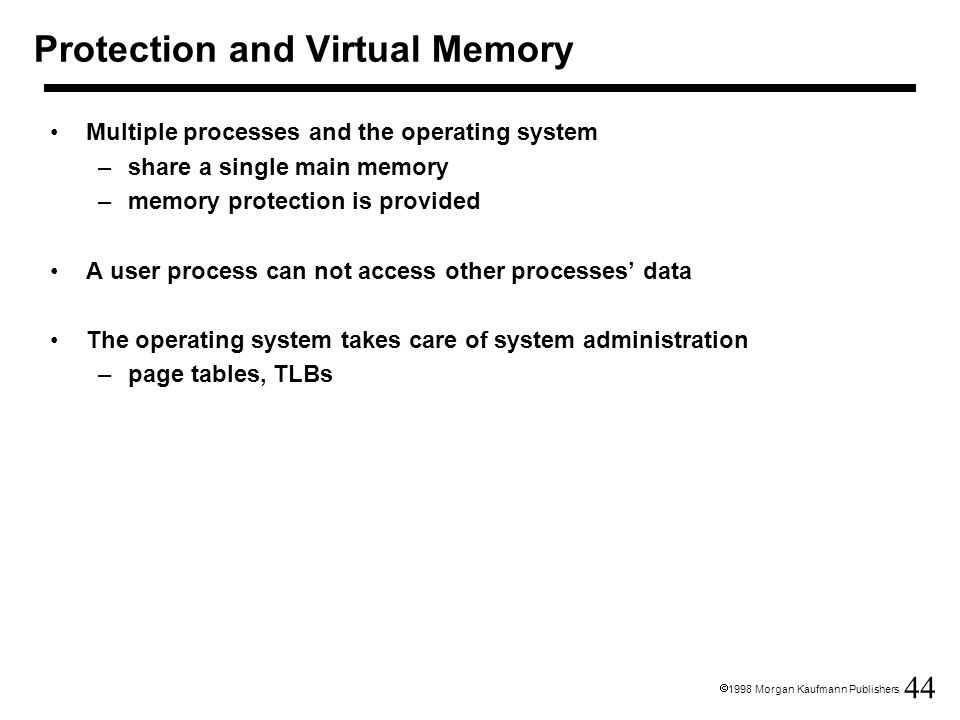 Protection and Virtual Memory
