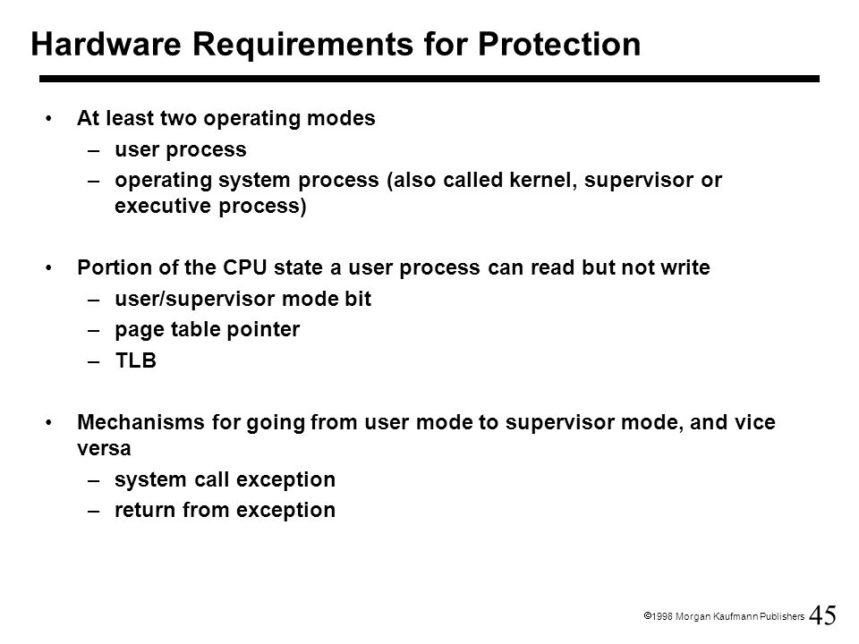 Hardware Requirements for Protection