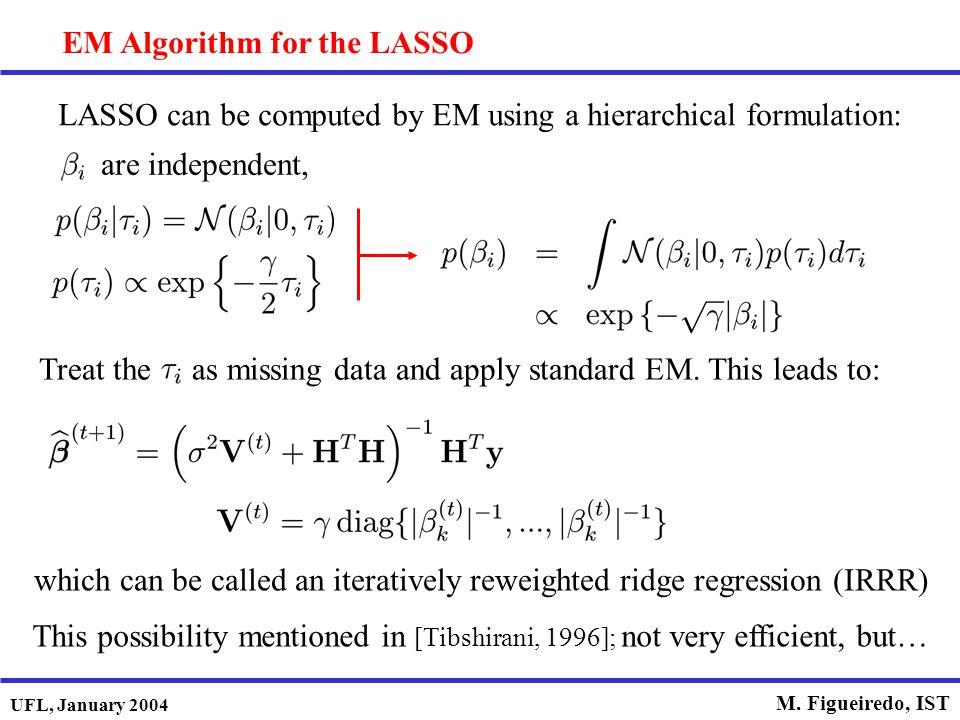 EM Algorithm for the LASSO