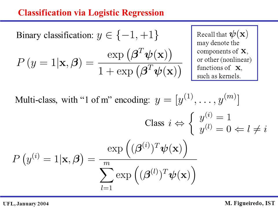 Classification via Logistic Regression