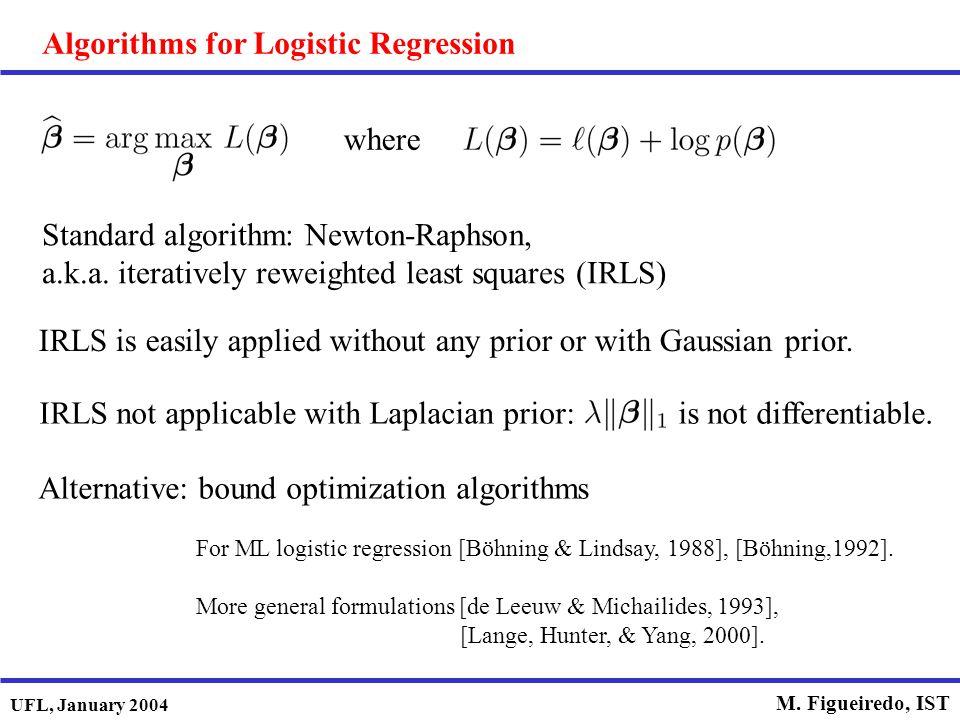 Algorithms for Logistic Regression