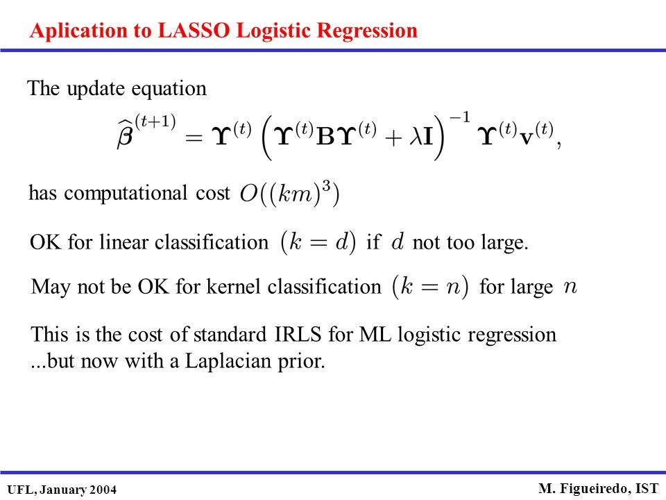 Aplication to LASSO Logistic Regression