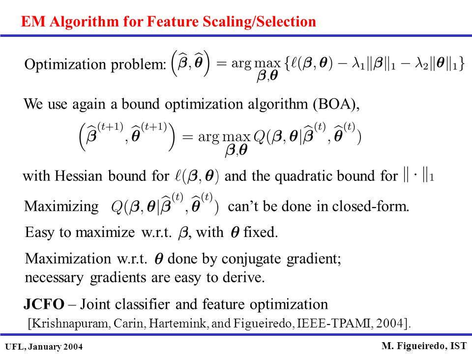 EM Algorithm for Feature Scaling/Selection