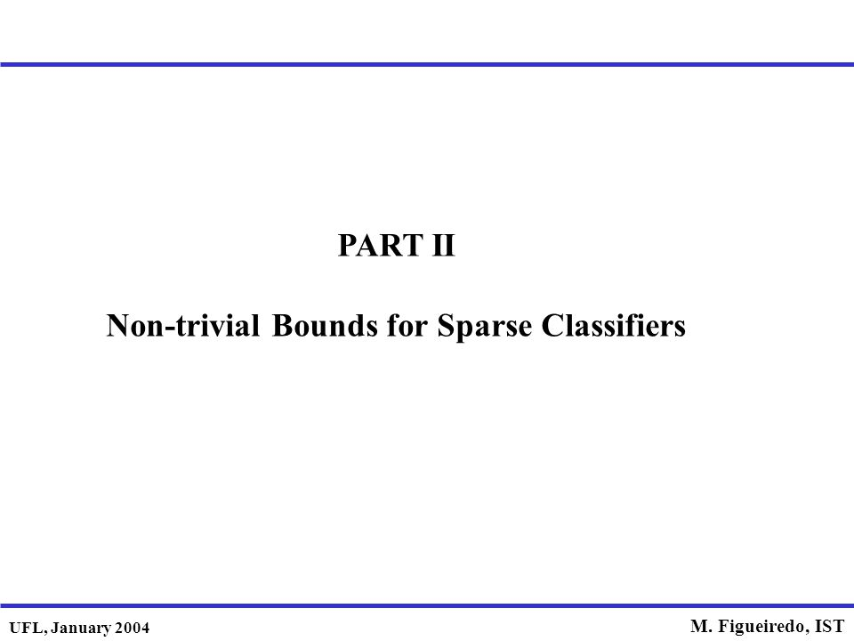 Non-trivial Bounds for Sparse Classifiers