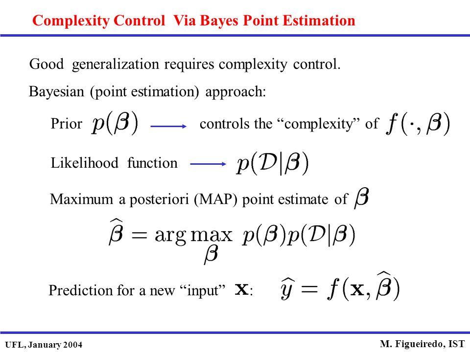 Complexity Control Via Bayes Point Estimation