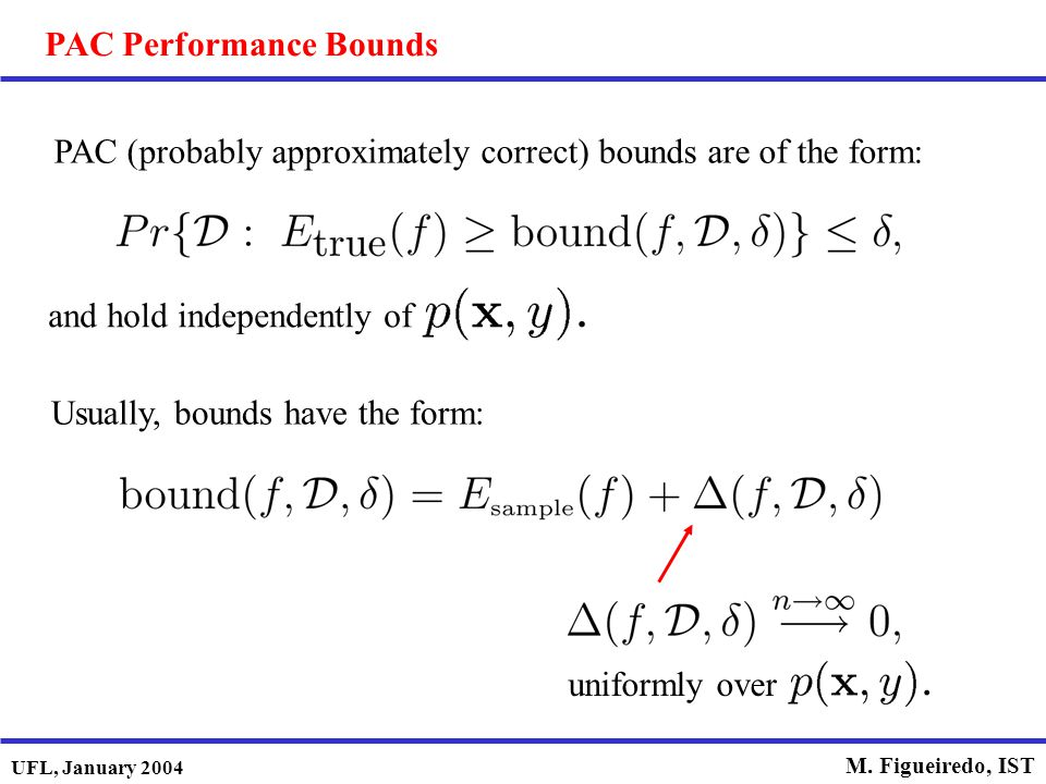 PAC Performance Bounds