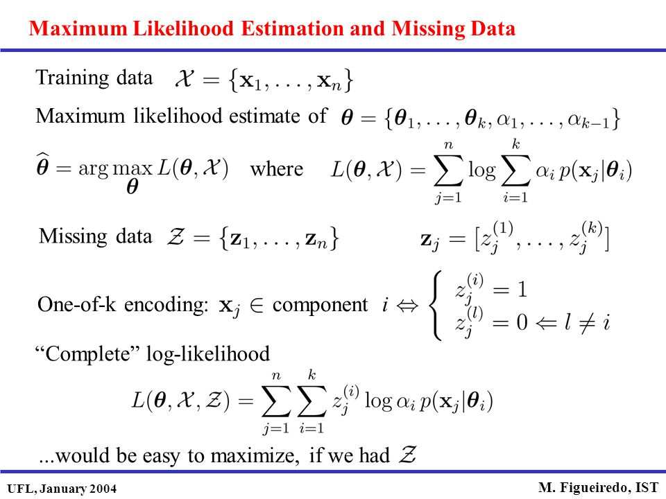 Maximum Likelihood Estimation and Missing Data
