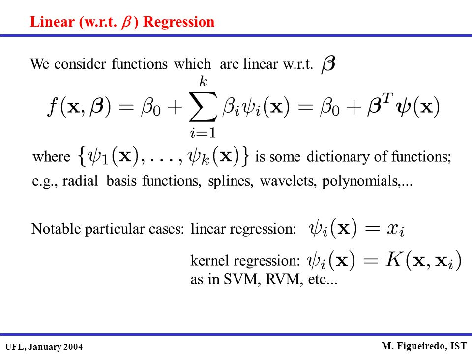 Linear (w.r.t. b ) Regression