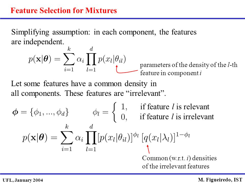 Feature Selection for Mixtures