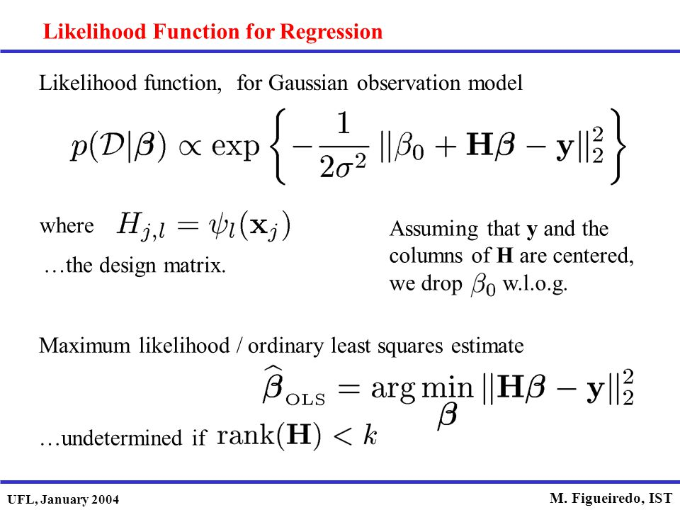 Likelihood Function for Regression