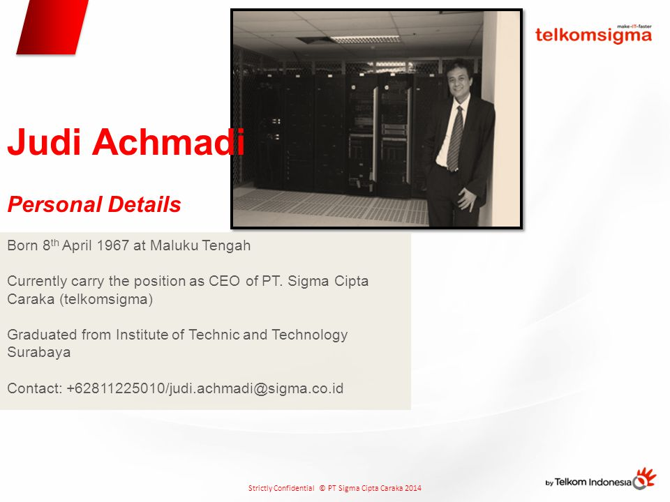 Judi Achmadi Personal Details Born 8th April 1967 at Maluku Tengah