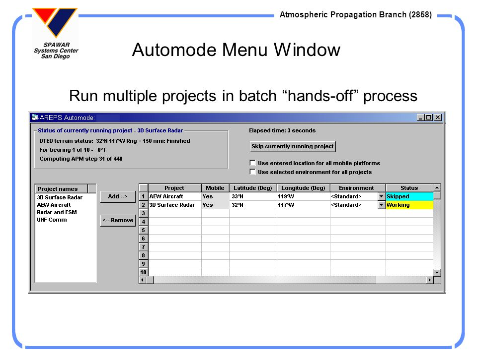 Run multiple projects in batch hands-off process