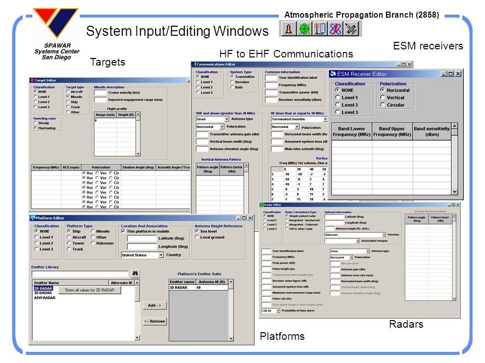 System Input/Editing Windows