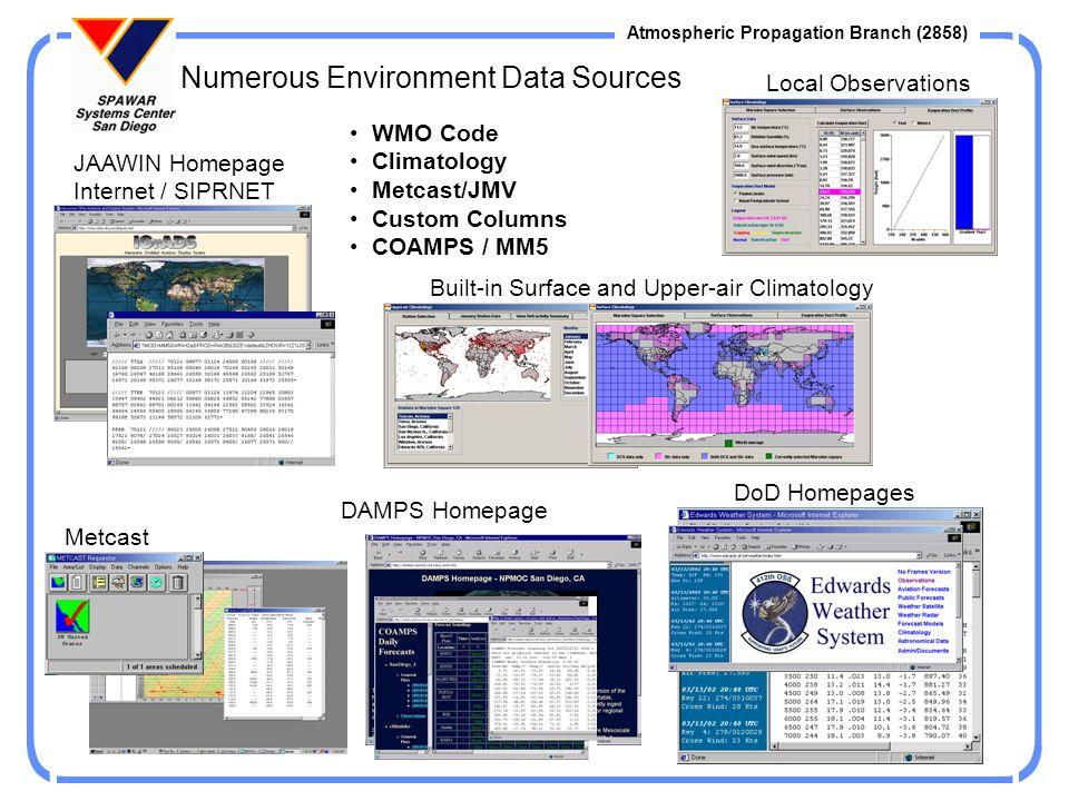 Numerous Environment Data Sources