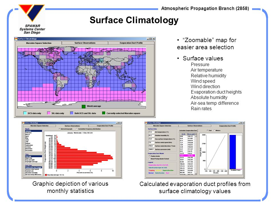 Surface Climatology Zoomable map for easier area selection