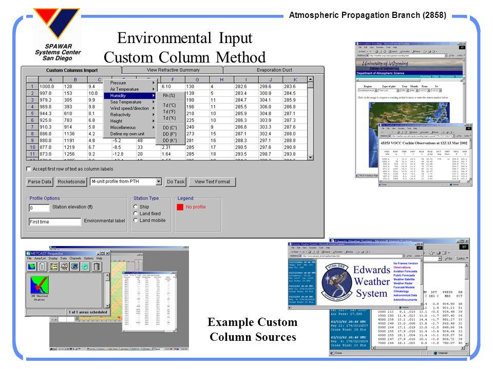 Example Custom Column Sources